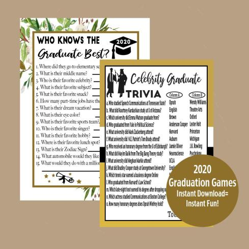 activities for a graduation party