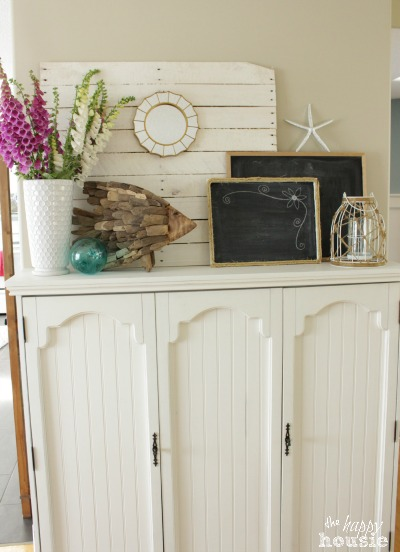 The Happy Housie Home Tour for Primitive and Proper Boys Bedroom faux mantel