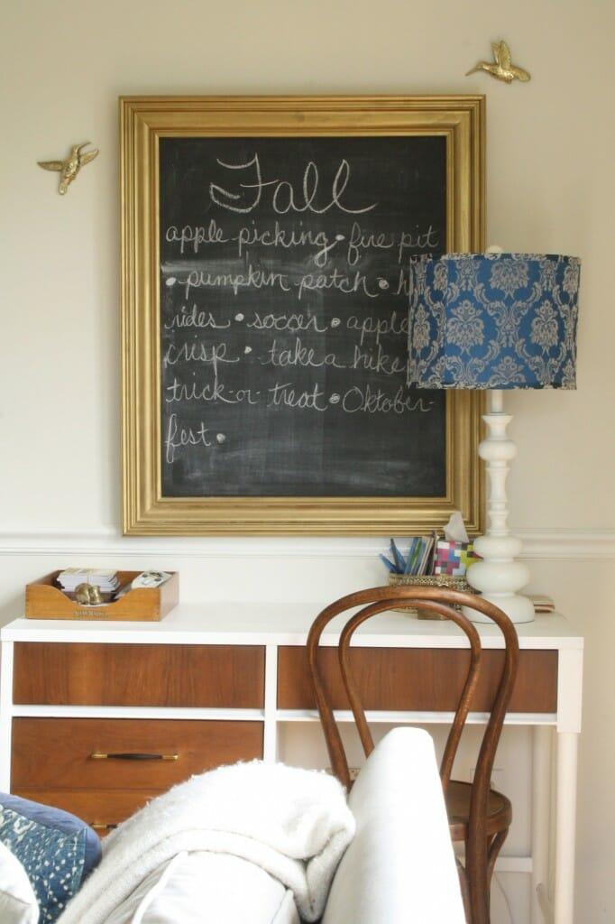 #EclecticallyFall fall bucket list chalkboard