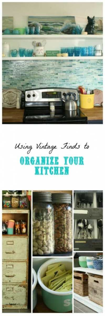 Using Vintage Finds for Kitchen Organization