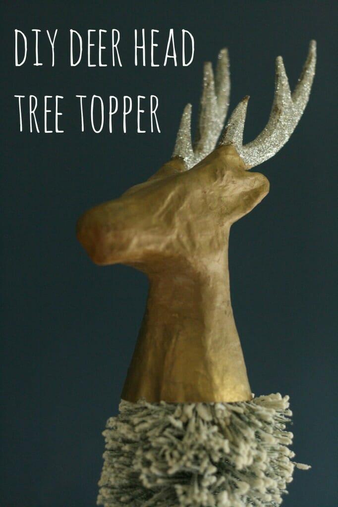 DIY Deer Head Tree Topper