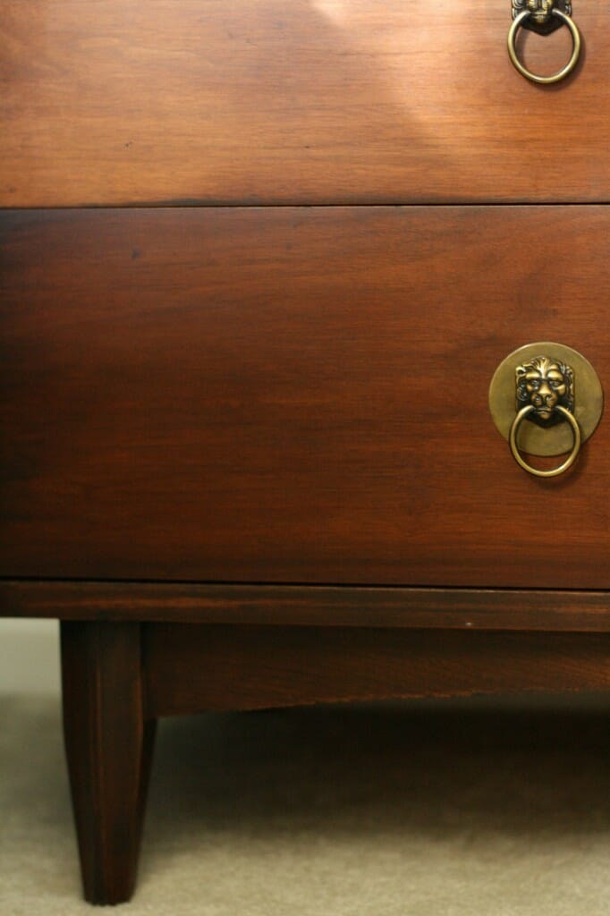 lion head pulls on dresser
