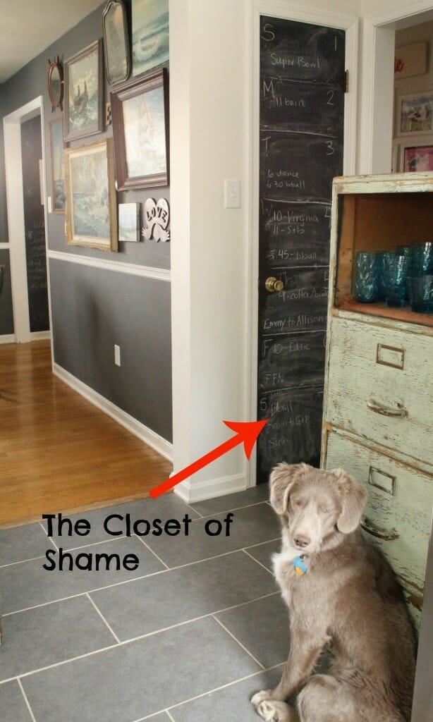 closet of shame before