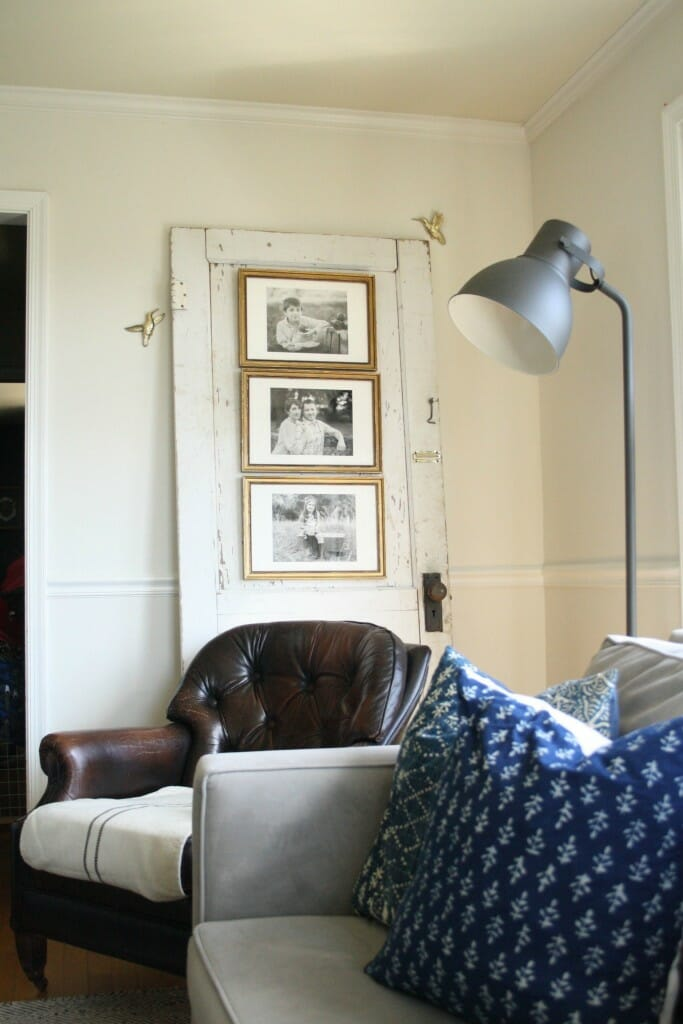 Use an Antique Door as photo display