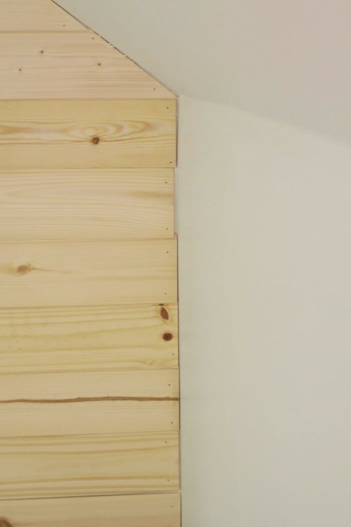 Minor gaps on planked wall