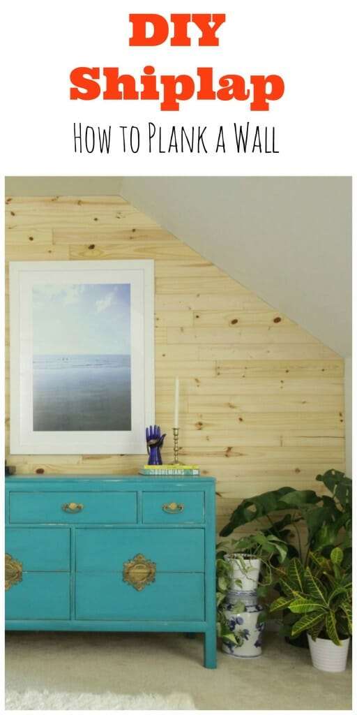 DIY Shiplap How to Plank a wall
