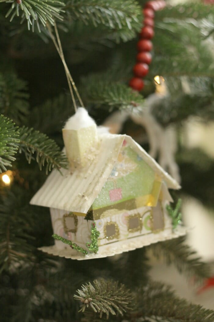 Handmade house ornament