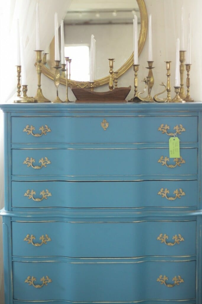Turquoise French Chest at Sweet Clover