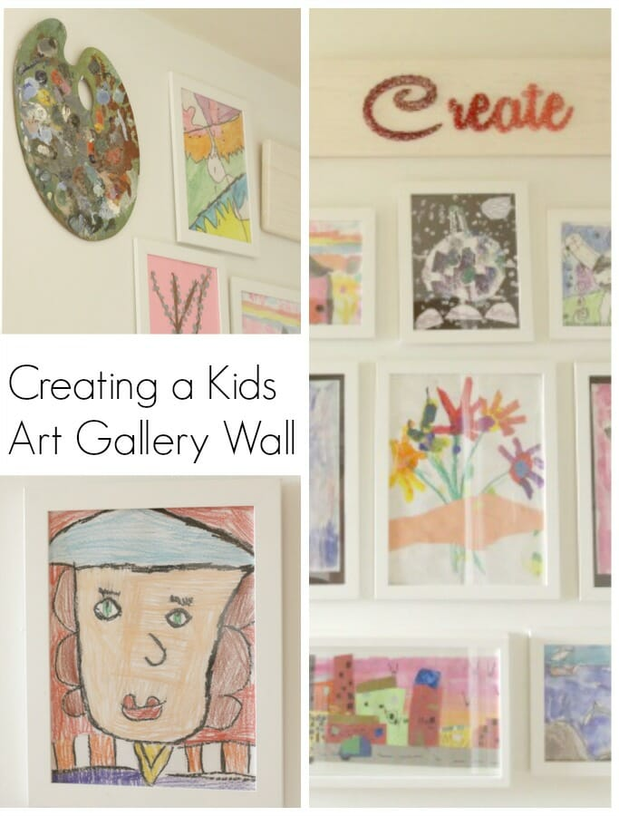 Creating a Kids Art Gallery Wall