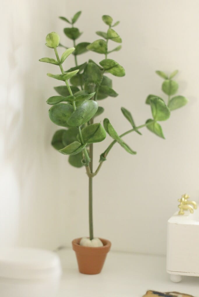DIY Miniature Fiddle Leaf Fig in Pot