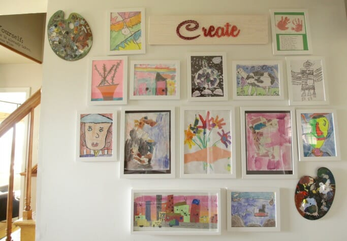 Great Creating a Kids Art Gallery