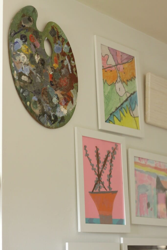 Vintage Palette on Kids Art Gallery Wall