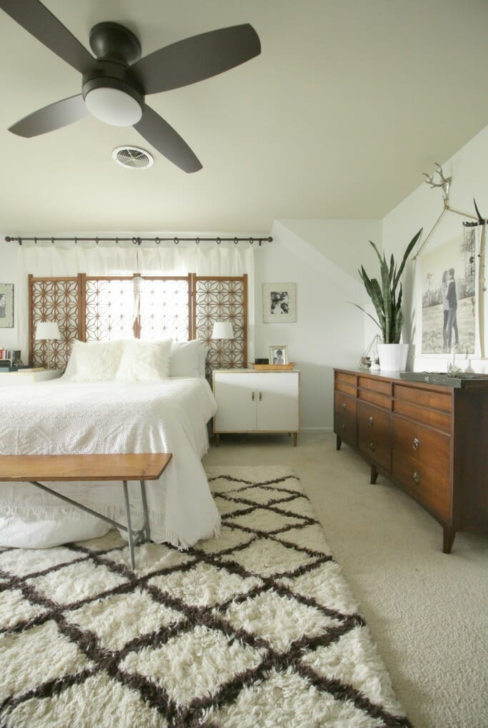 New ceiling fan in the master bedroom cassie bustamante lamps plus ceiling fan in modern boho master bedroom aloadofball Images