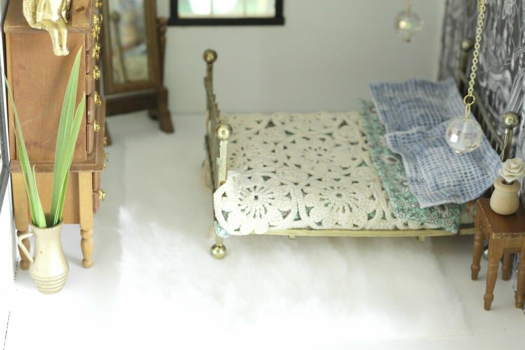 Dollhouse Shag Rug from white fur
