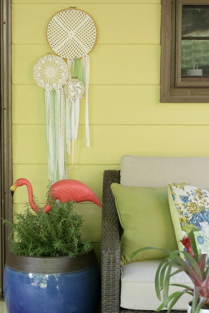 Boho Dreamcatcher Hanging on porch