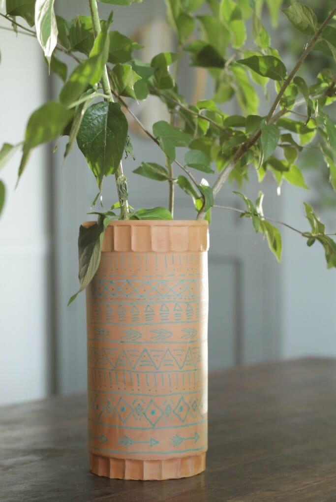 Terra Cotta Wine Holder as Vase