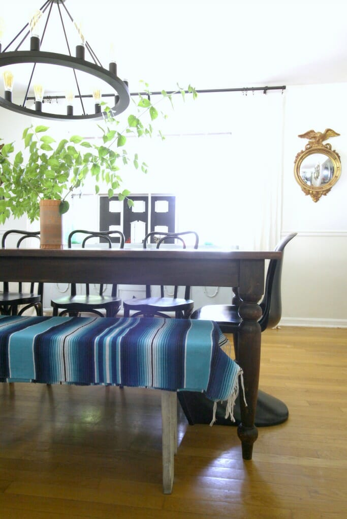 Sarape on Dining Bench