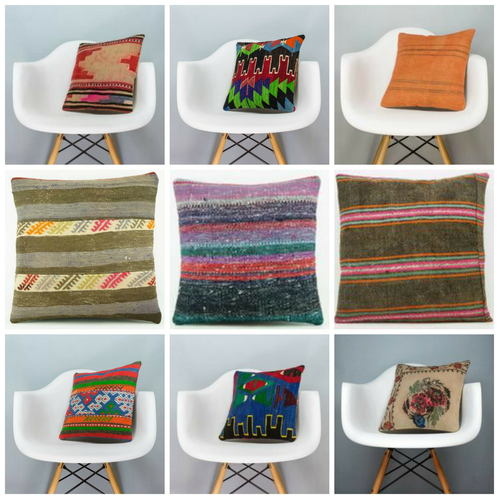 pin pillows kilim cases handmade turkish pillow