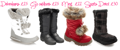 fashion for frosty mornings snowboots on tuesday shoesday from next debenhams go outdoors and sports direct