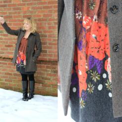 apricot january sale steals dress bargains cuppa tea in the garden snow detail