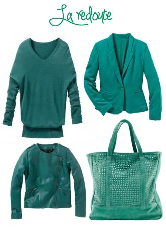emerald la redoute jacket coat jumper bag 2013 fashion trend