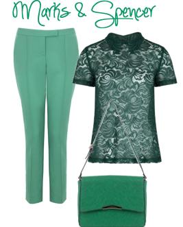 emerald marks and spencer top trousers bag 2013