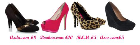 tuesday shoesday cheapest sale shoes jan 2013 asda asos boohoo h and m heels