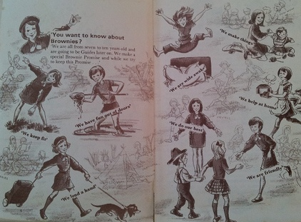 vintage brownie guide handbook retro book
