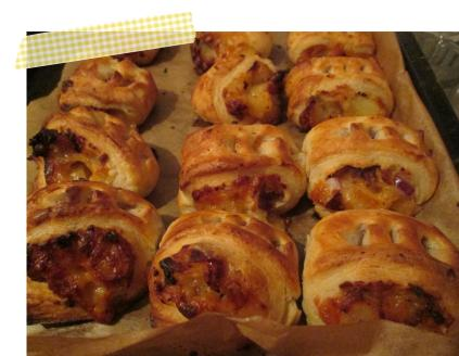 pieday cheesey rolls leftover potatoes cheese and pastry recipe