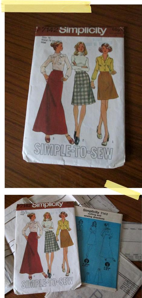 simplicity skirt pattern retro dressmaking sewing diy kit