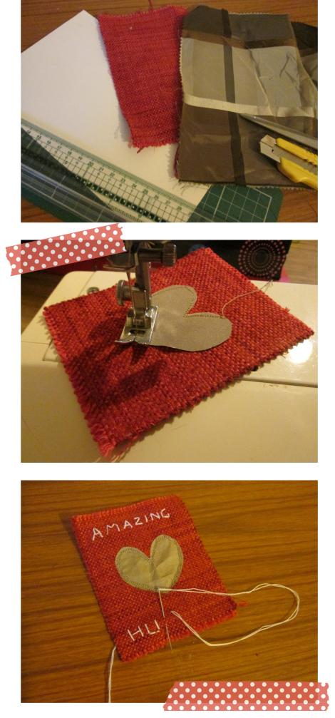 valentines day stitched card DIY tutorial amazing husband sewing