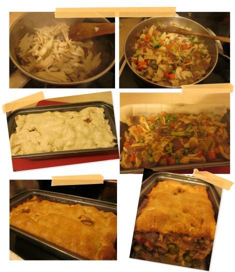 pieday friday recipe for leftover roast dinner pie chicken veg potatoes baking