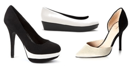 tuesday shoesday footwear trend monochrome shoes in black and white from new look mr shoes and debenhams