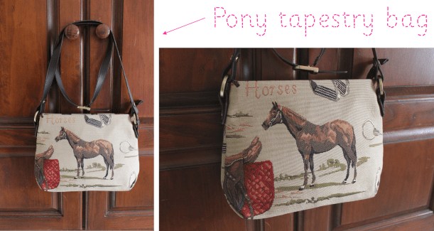 carboot sale bargains pony tapestry bag