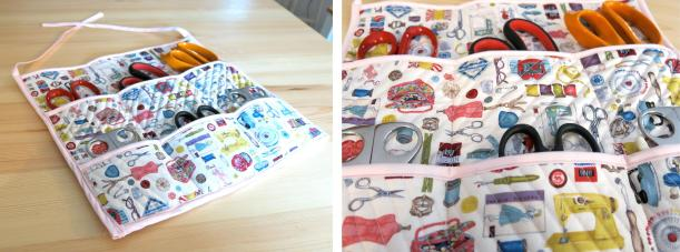 inspiration challenge lucy loves ya blog sewing scissor storage project