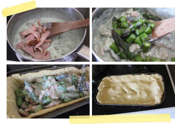 pieday friday ham and asparagus seasonal summer pie recipe on cassiefairy blog