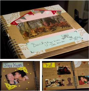 diy personalised craft gift book scrapbook for the bride at hen party