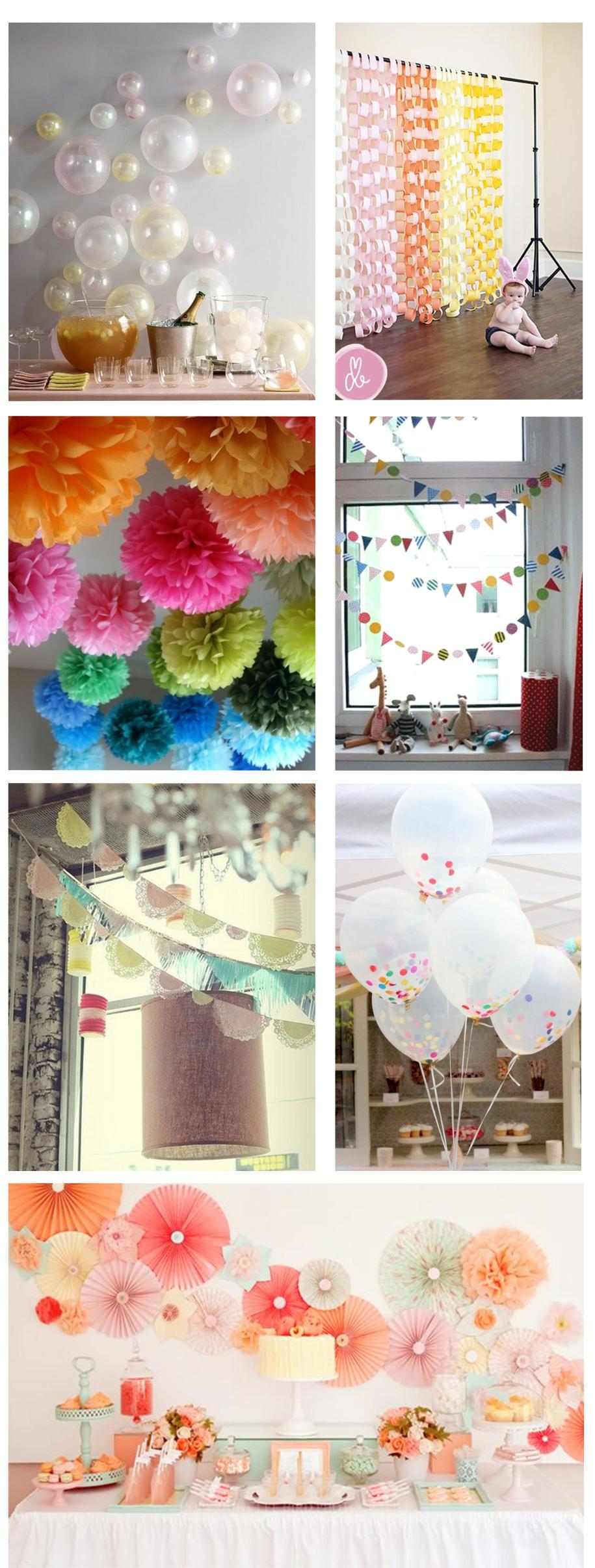Ideas for home-made party decorations | My Thrifty Life by ...