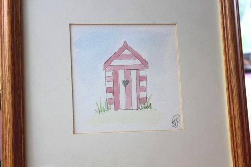 inspiration challenge beach hut watercolour painting by Andy Greenacre