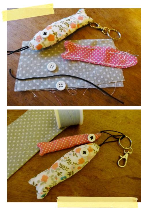 Mollie Makes fish keyring sardines sewing project issue 29 2013