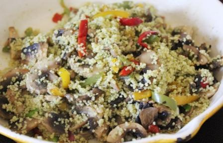 pieday friday recipe from cassiefairy - summer vegetable mushroom couscous