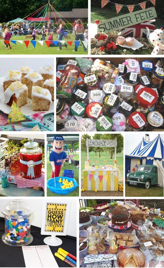 summer fete school fair party moodboard