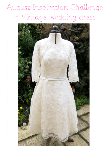 inspiration challenge for august 2013 vintage wedding dress from lucylovesya blog