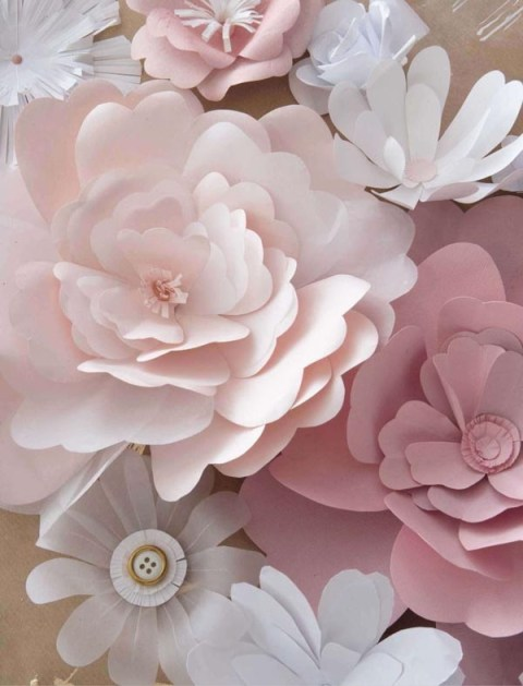 paper flowers tutorial from stylishtrendy blog