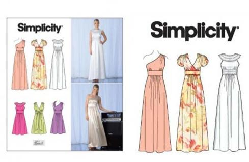 simplicty sewing pattern from abakhan prize for aug inspiration challenge
