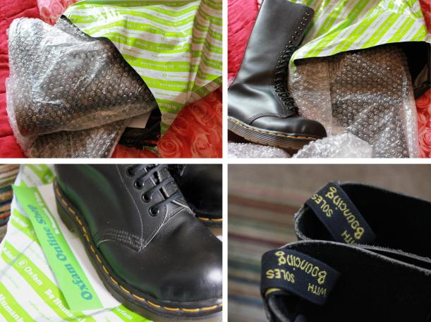 tuesday shoesday shoes from Oxfam fashion online shop summer sale black dr martin doc marten boots