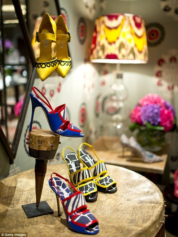 manolo blahnik shoe collection at london fashion week for spring summer 2014