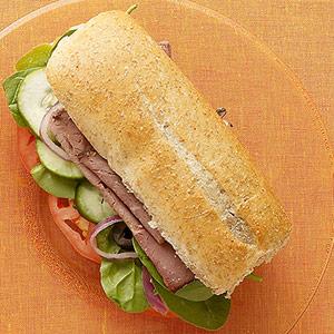 tamagotchi life healthy beef sub sandwich