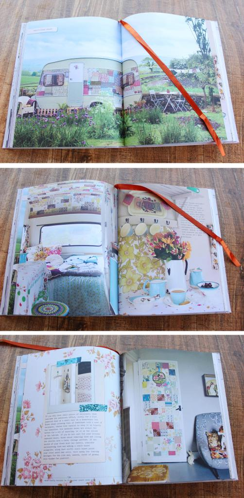 vintage caravan renovation project patchwork feature wall wallpaper cassiefairy Granny Chic book