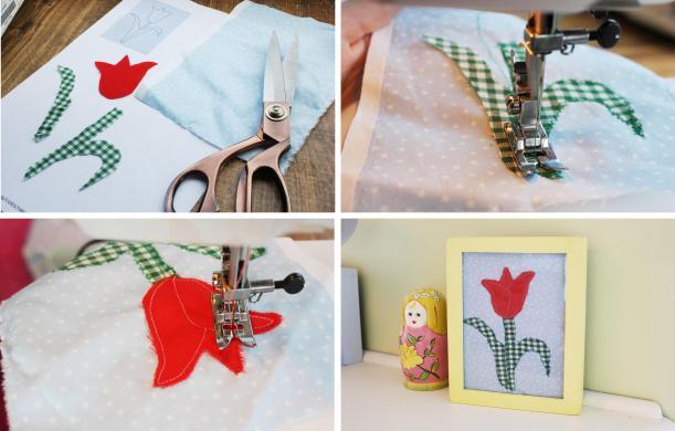 cassiefairys applique tulip project for amanda addison creative crafting